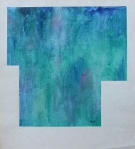 Diligent Joseph Iliu (1914-1999) Grande Composition Abstraite Gouache Sur Papier (101)