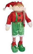 "Posable Elf Plush Figure Window Christmas Doll Lg 30"" Nutcracker DECOR ORNAMENT"