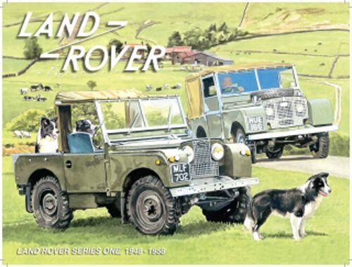 Land Rover Series 1 Sheep Dog Farming Off Road 4x4 Old Car Medium Metal Tin Sign