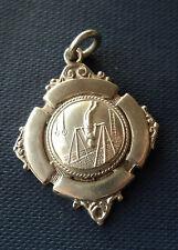 Early Sterling Silver Gymnastics Fob Medal h/m 1930 Birmingham - High Bar