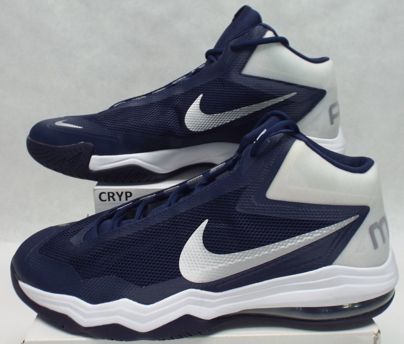 New Mens 17 NIKE Air Max Audacity Navy White Shoes 120 813318-402