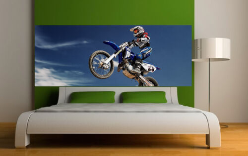 Sticker Headboard Decoration Wall Motorcycle Cross 3697 5 Dimensions