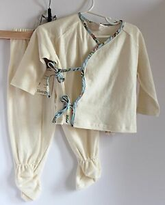 Rare-Marlemania-Designs-Retro-Rascals-Eco-Baby-Cute-Top-Matching-Pants-w-Feet