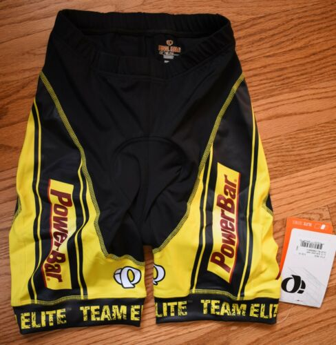 PEARL IZUMI Elite Series Padded Cycling Bicycle Shorts Womens XS Black Yellow