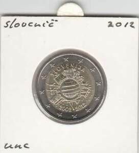 Slovenie-2-euro-2012-UNC-10-Jaar-Euro-munt