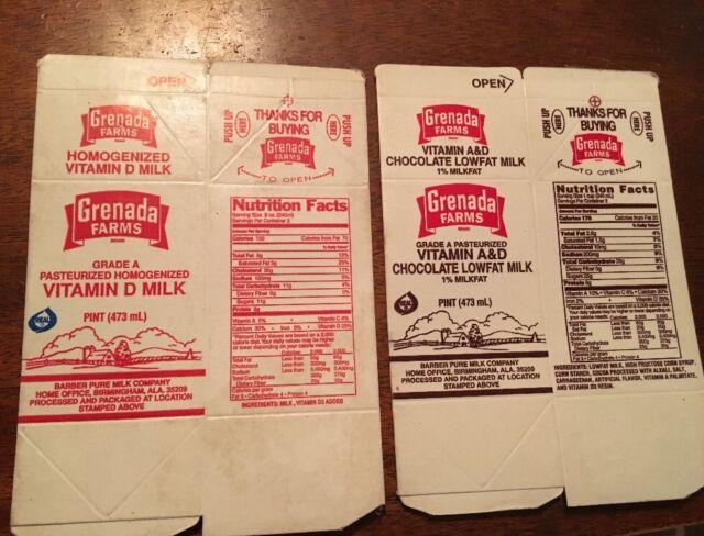 Vintage box BOERGER DAIRY FARMS Lowfat milk carton family farmer Cincinnati Ohio