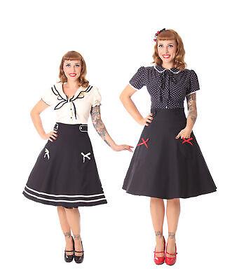 SugarShock Nieva 60s retro Leo Kragen Petticoat Rockabilly Kleid