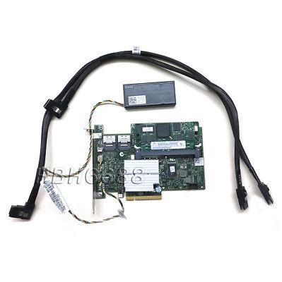 Dell PERC 512MB SAS XXFVX RAID Controller w// Battery /& Cables Full Kit