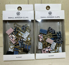 Small Binder Clips Pack Of 16 Geometirc White Black Pink Lot Of 2