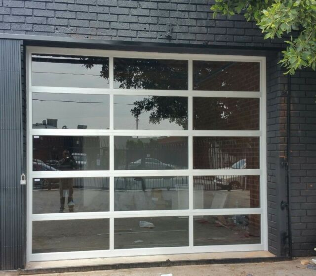 Full View 12 X 8 Anodized Aluminum Tempered Clear Glass Garage