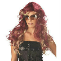 Long Burgundy And Blonde Mix Curly Fashionista Wig