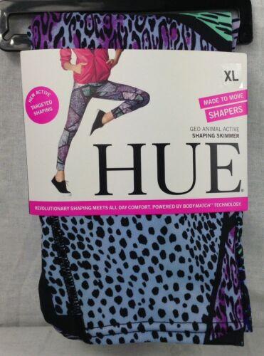 Hue Women/'s Geo-Animal Print Active Shaping Skimmer Leggings Size XL Multi-color