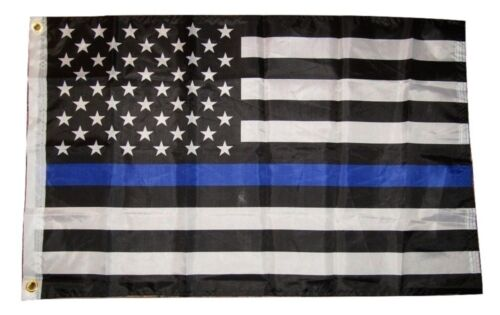 2x3 USA American Police Blue Line Memorial Flag 2/'x3/' Banner Grommets