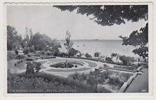 Essex postcard - The Sunken Gardens, Westcliff on Sea - P/U 1953