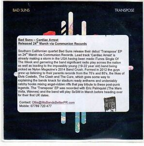 EO489-Bad-Suns-Cardiac-Arrest-2014-DJ-CD