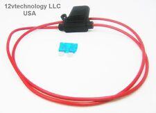 Inline Fuse Holder ATC/ATO  Motorcycle Waterproof 16GA Marine Grade 30 Inch Loop