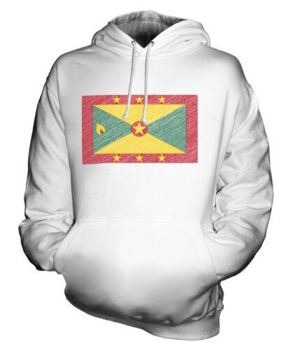 À Capuche Sweat Cadeau Griffonnage Grenada Haut Unisexe Grenadian Drapeau qvwnSC