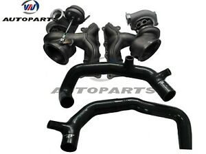 """Upgraded TD04-17T Billet Twin Turbocharger+2"""" inlet pipes for 335i LHD 3.0L N54"""