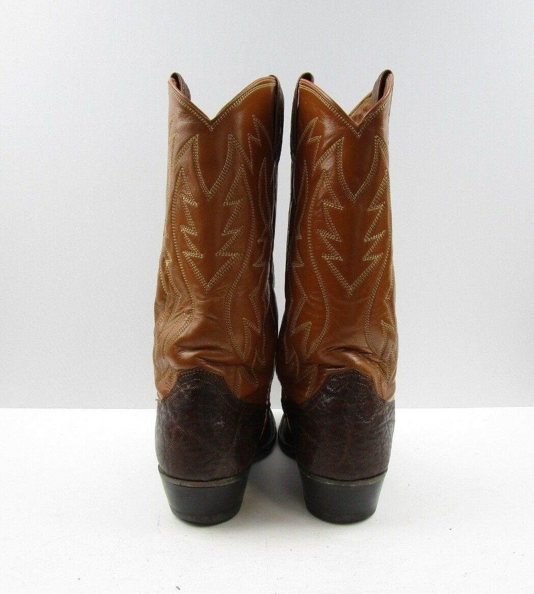 Ladies Justin Brown Brown Brown Bull Shoulder Leather Cowboy Western Boots Size  7.5 B 6f87e5