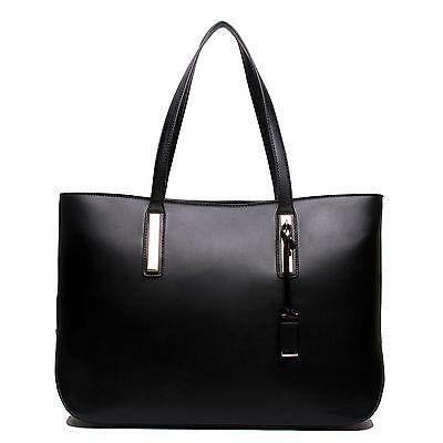 Ladies Designer Leather Style Large Tote Bag Shoulder Satchel Handbag