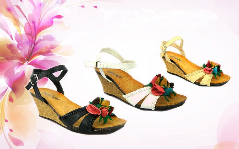 New Women Ladies Wedge Heel Fancy Summer Dress Party Beach Sandals Size 3-8