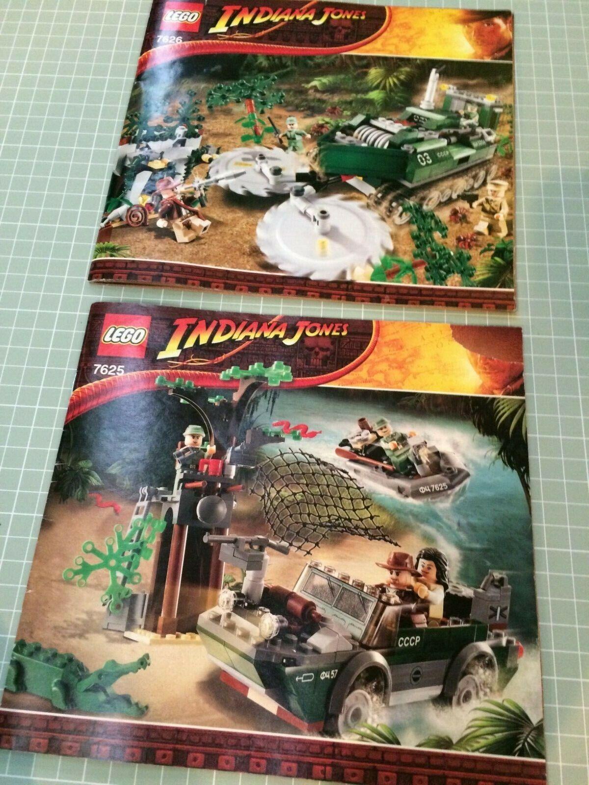 LEGO Bundle  Indiana Jones Jungle Cutter 7626, River Chase 7625, mattoni instrns  nuovo stile