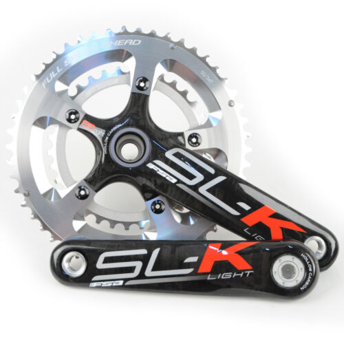 FSA SL-K Light BBright Carbon Road Bike Crankset 50//34 10 Speed 172.5mm ////Silver