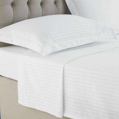 Oxford taies d/'oreiller 100/% Coton Égyptien Satin Rayure TC 250 blanc ivoire