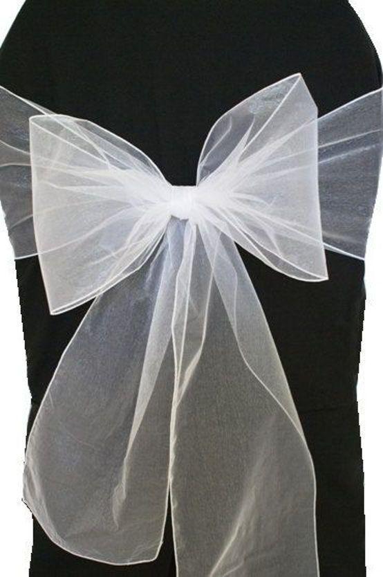 Organza Chaise avec de nœud de avec ruban pour Mariage Banquet Fête Décor sans événeHommes t p&p blanc 125 c62402
