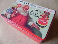 vecchia scatola di latta-old tin box santa claus, babbo natale coca cola