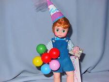 "Vintage MADAME ALEXANDER 1993 HAPPY BIRTHDAY  DOLL  8"" W/BALLOONS & GIFT  w/Box"