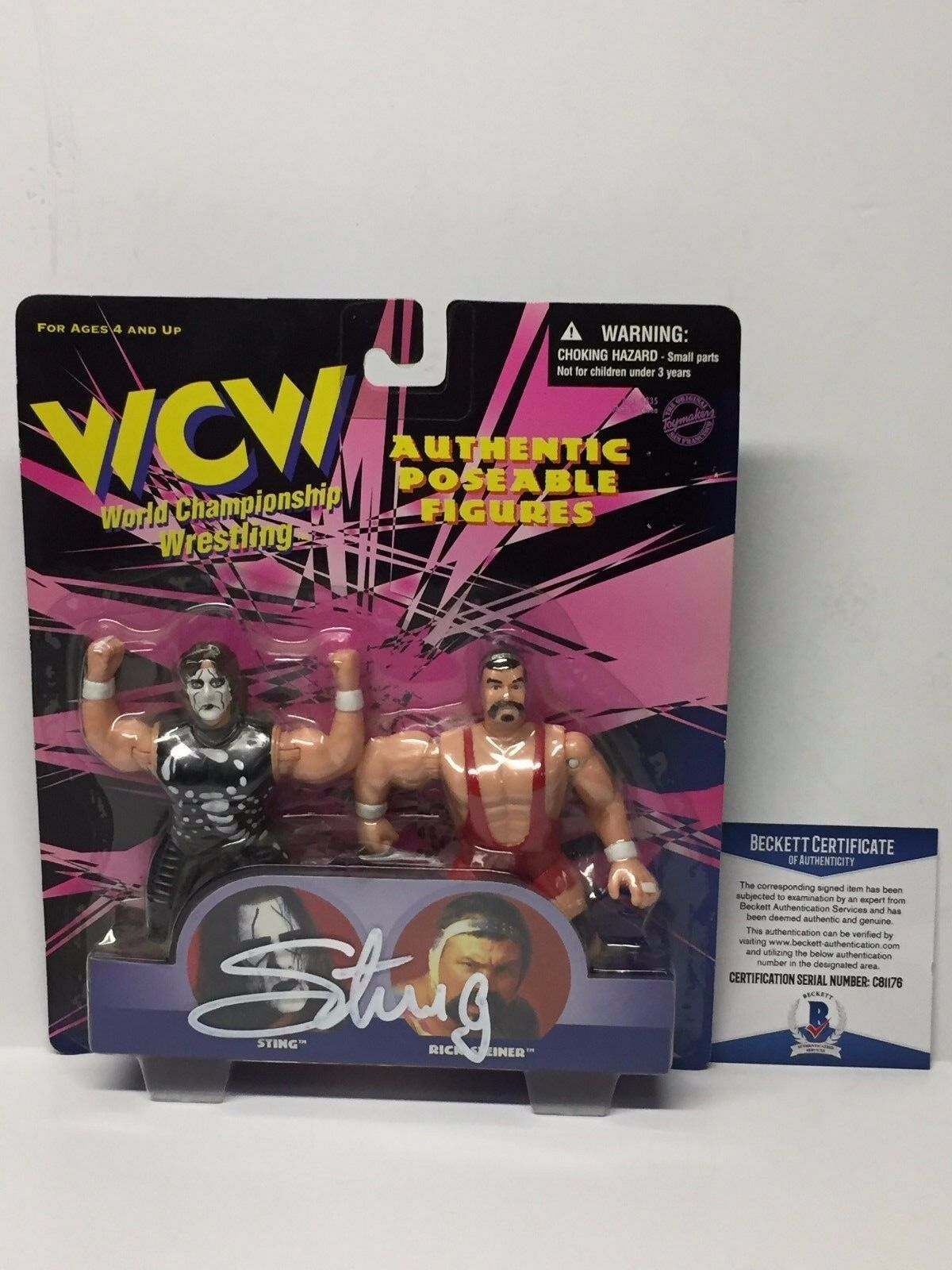 Sting Signed World Championship Wrestling WCW Figurine Figure
