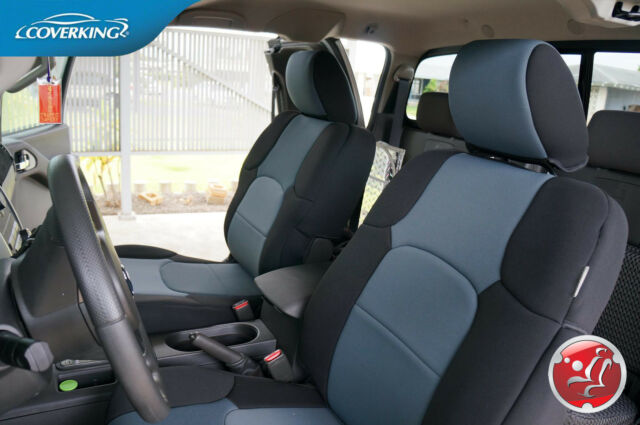 Coverking Neosupreme Custom Tailored Front Seat Covers for Nissan Frontier