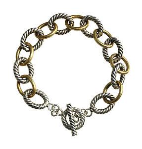 Designer-Inspired-925-Sterling-Silver-Medium-Oval-Link-Bracelet-12mm-Lengh-7-5-034