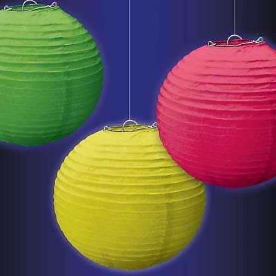 Puntuale Nuove Lanterne Di Carta Al Neon 24cm/3-mostra Il Titolo Originale Gamma Completa Di Articoli