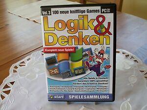 RETRO PC CD-ROM LOGIK & DENKEN, 100 NEUE KNIFFLIGE GAMES, VOL. 3 - NEU !!! - Ebenthal in Kärnten, Österreich - RETRO PC CD-ROM LOGIK & DENKEN, 100 NEUE KNIFFLIGE GAMES, VOL. 3 - NEU !!! - Ebenthal in Kärnten, Österreich