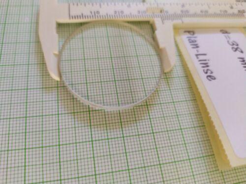 9 Stück d=38mm h=3mm Plan Optische Linse Optik 3D aus Glas