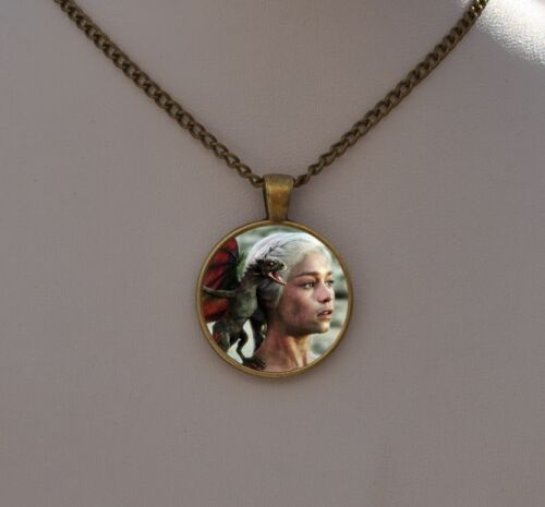 Game of Thrones Necklace Pendant Khaleesi And Her Dragon Jewelry Gothic Gift