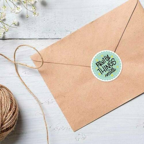 1000 Pretty Things Inside Stickers Thank You Label for Envelope Bag Gift Seal au