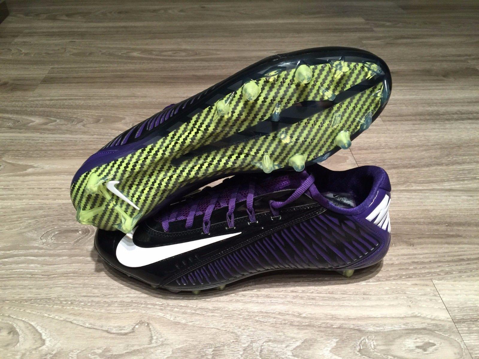 Nike Vapor Carbon Fiber Elite 2 TD Football Cleats 13 Purple Black 657441-003