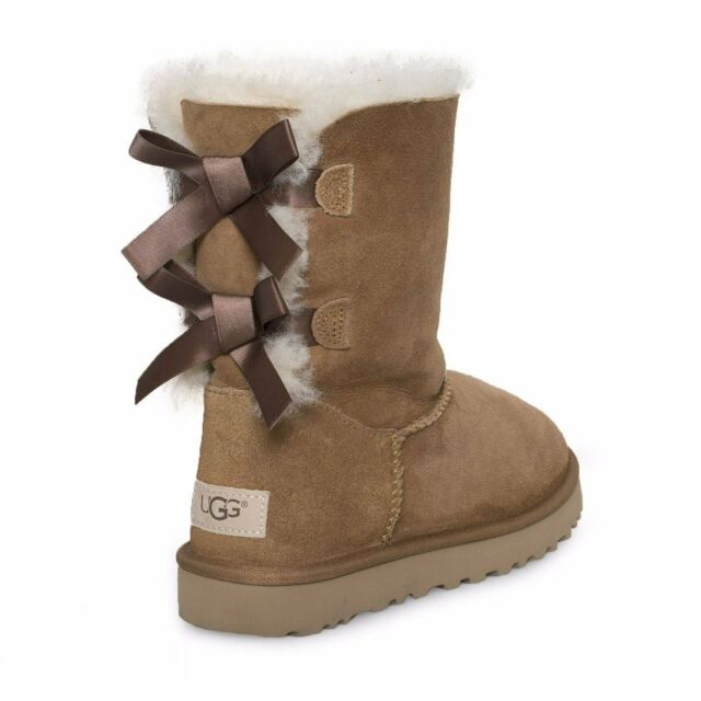 various styles later detailing UGG Australia Bailey Bow Mid-calf BOOTS Chestnut 11 US / 42 EU