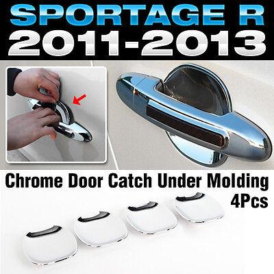 For KIA 2011-2015 Sportage R Chrome Door Catch Handle Under Molding Cover Trim