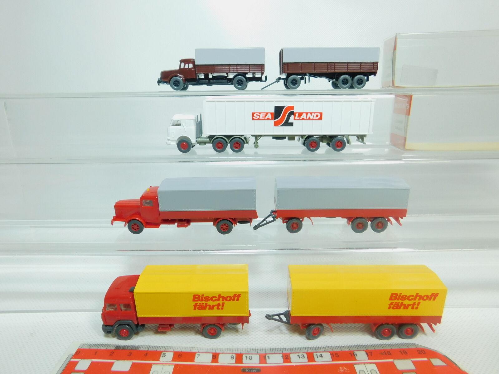 Bo997-0, 5  4x Wiking h0 1 87 camion  480 Krupp  Büssing  IVECO Bischoff etc S.G. Neuw