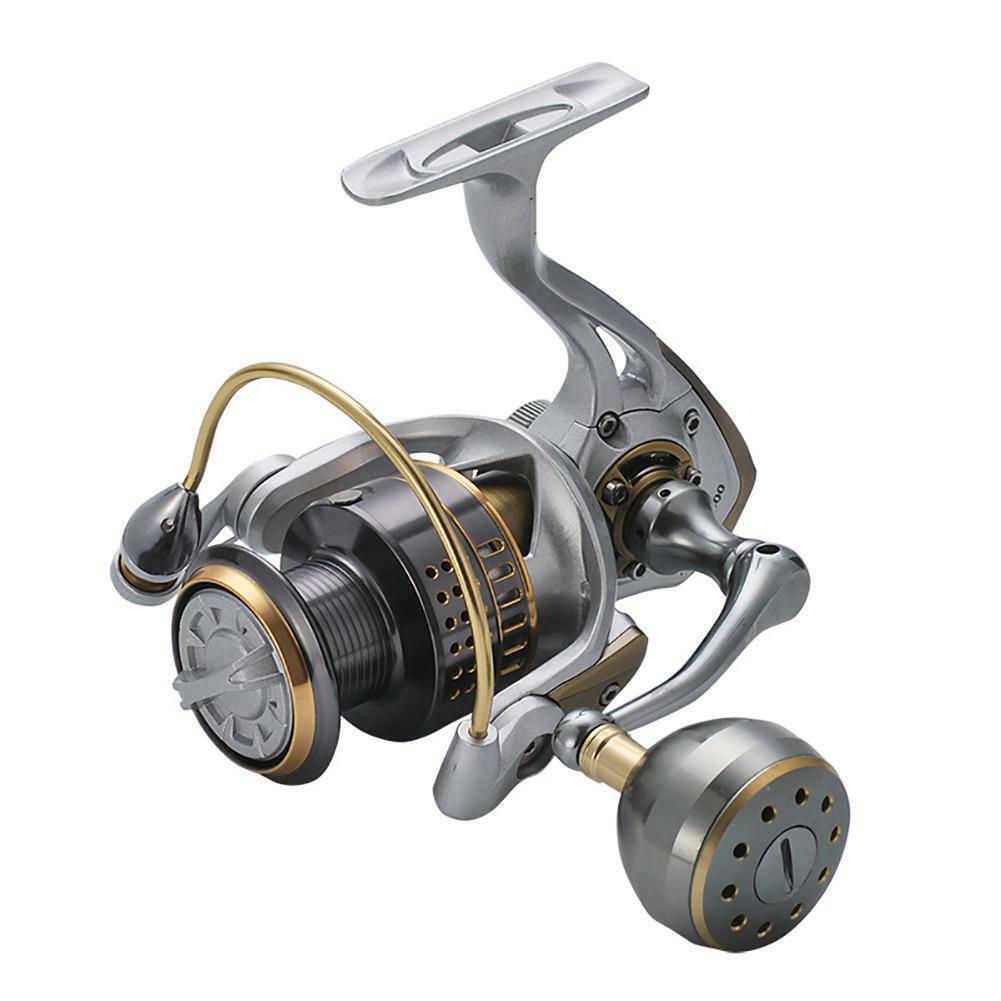 Saltwater Stainless Steel Spinning Shot Rod Reel Metal Drag Boat Fishing Coil
