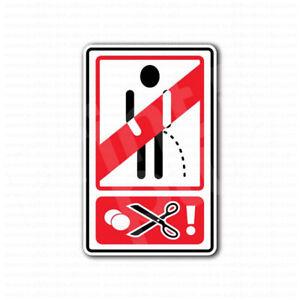 Danger Do Not Piss Pee Warning Funny Sign Sticker | eBay