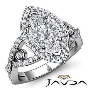 2-65ctw-Cruz-Pata-Aprox-Halo-Marquesita-Anillo-de-Compromiso-Diamante-GIA-F-VS2