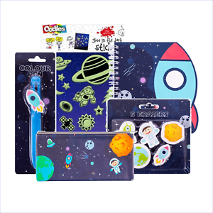 Space Stationary Set Back To School Pen Notebook Eraser Pencil Case Stationery