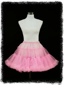 dress190-Pink-50s-Rockabilly-Party-Prom-Pinup-Swing-22-034-Petticoat-Underskirt-16