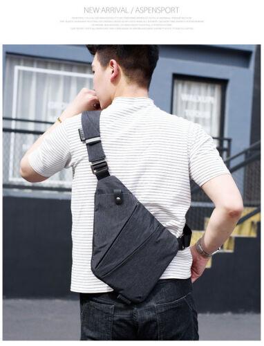 Anti-Theft Men Messenger Bag Shoulder Bags Hidden Chest Gun Pack Male Crossbody