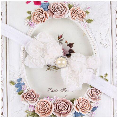 Elastic Hot Items Baby Darling Rose Bow Newborn Hairband Lace Flower Headband